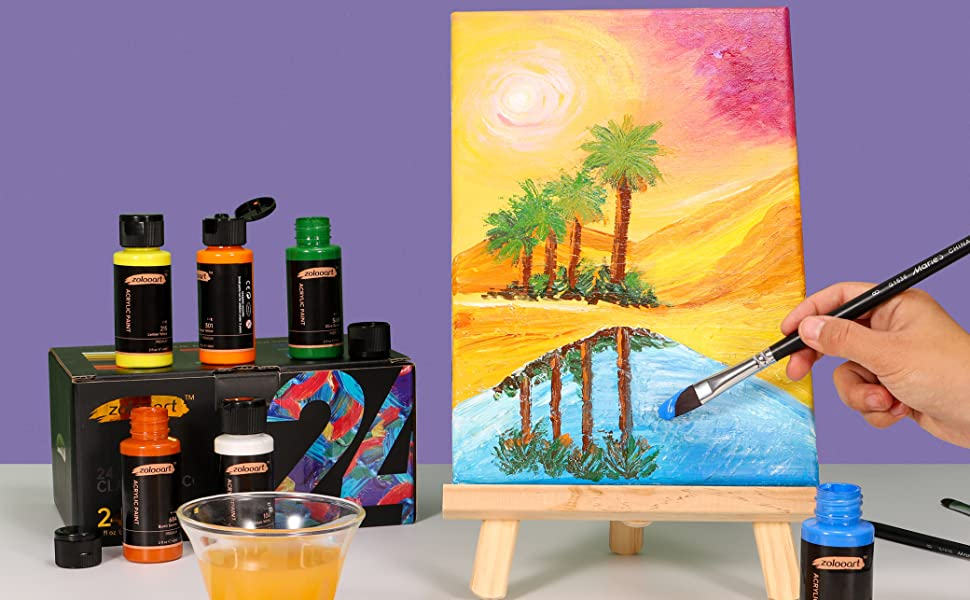 acrylic paint set 24 colors