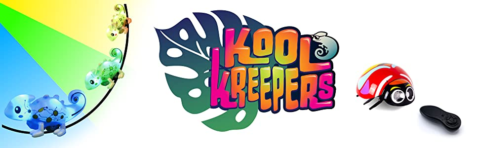 kool kreepers,color tracer chameleon,rc jitterbug,inductive toy,remote control toy,ladybug rc toy