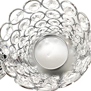 Crystal Candle Holders Stand with 3 Candelabras for Coffee Table
