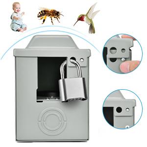 RV Power Outlet Box Enclosed Lockable Weatherproof Outdoor Electrical NEMA TT-30 R Receptacle