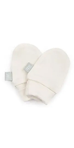 finn and emma, baby mittens, organic cotton mittens, hand mits, scratch cover