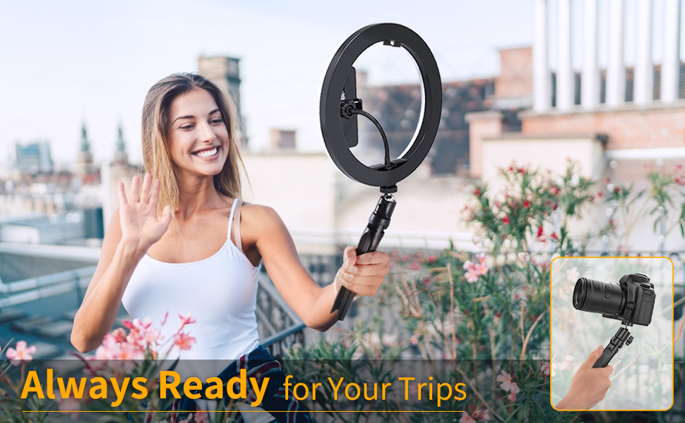 10.2'' Selfie Ring Light with Tripod Stand & Phone Holder