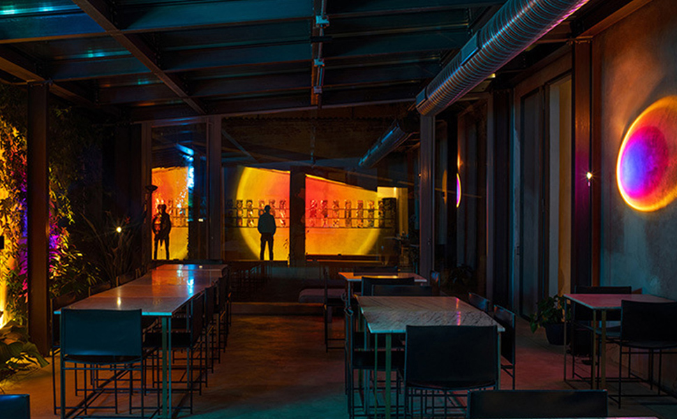 Sunset Projection Floor Lamp Rainbow Floor Stand Romantic Night Light