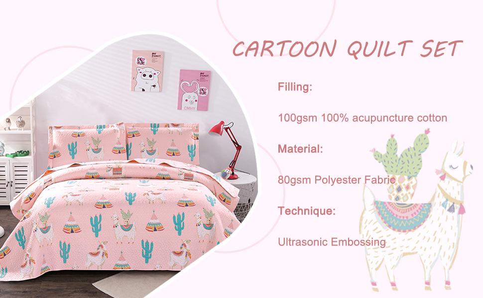 pink quilt set