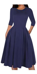 Solid Blue dress