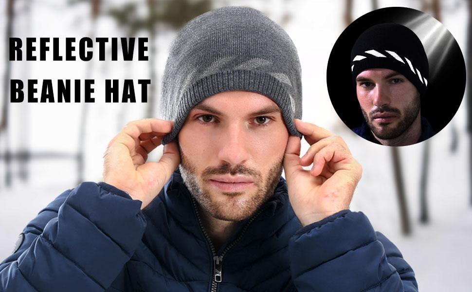 safety watch cap, running beanie reflective