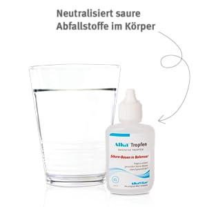 basisches Wasser, basische Tropfen, álkaline tropfen, alkaline Wasser, entsäuern