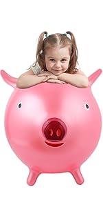 hopper ball for kids 3-6 pig toys for kids big ball for kids hippity hop balls pig gifts for kids
