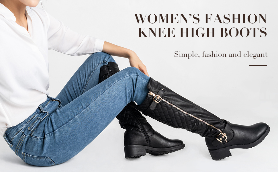 dream pairs women knee high boots