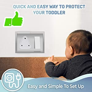 PROTOWARE Baby Safety Electric Socket Plug Cover Guards (Pack of 12)