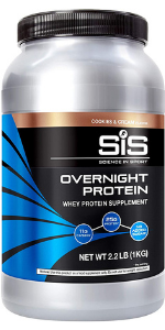 overnight protein casein whey post workout shake cookies amp; cream recovery muscles