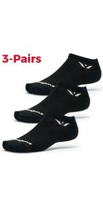 Swiftwick Aspire Zero Black 3 Pack Socks