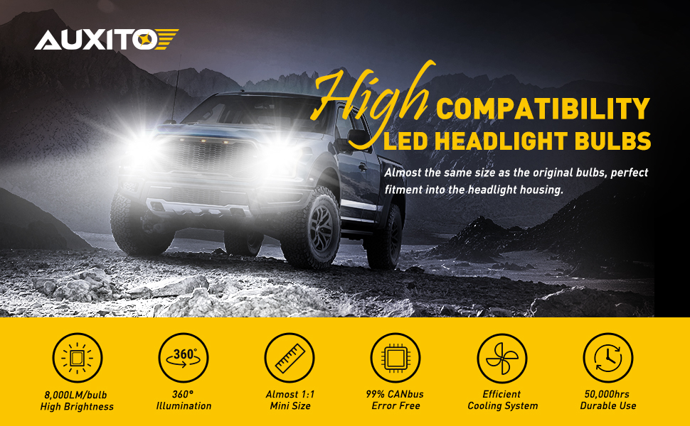 9006 hb4 led headlight bulbs kit