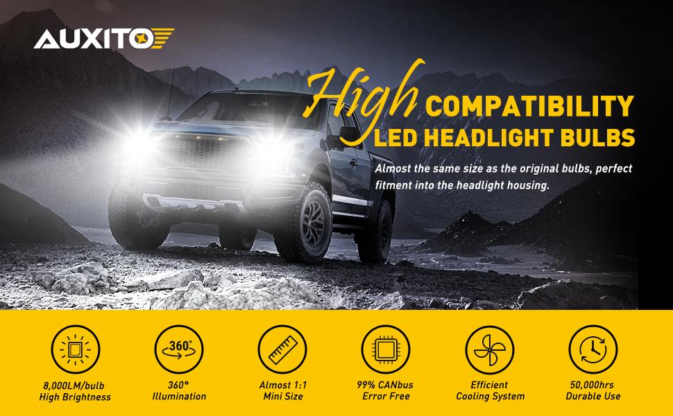 9006 hb4 led headlight bulbs kit