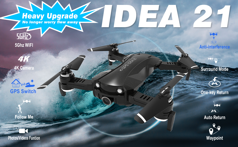 GPS Drones with Camera 4K for Adults