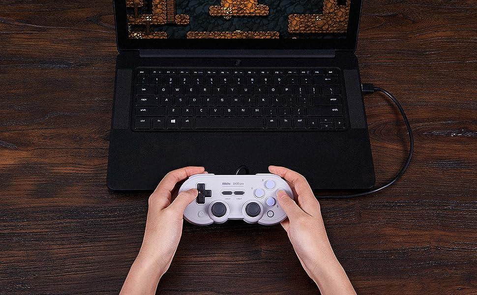 Gamepad edición USB con cable USB 8BitDo SN30 Pro: Amazon.es ...