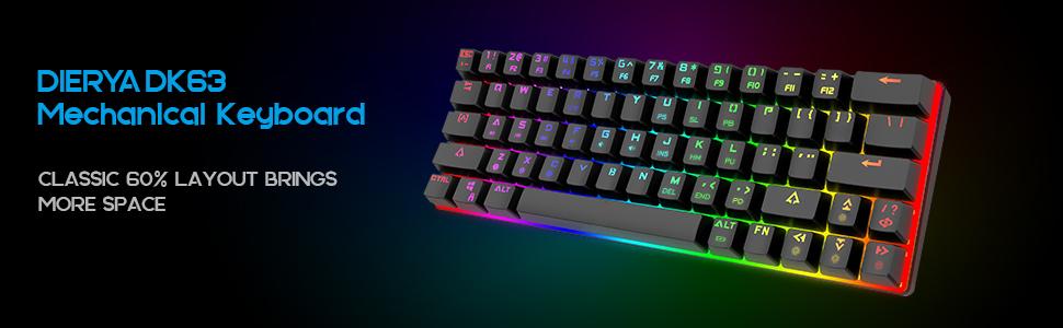 DIERYA 60% Mechanical Gaming Keyboard