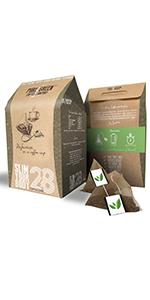 cappuccino skinny detox coffee pure green pyramid bag