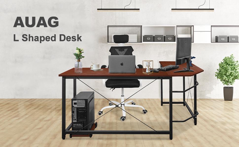 AUAG L shaped desk