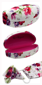 sunglass case sunglasses hard shell metal case microfiber cleaning cloth drawstring pouch