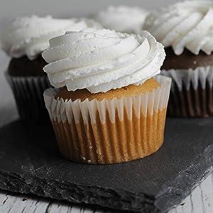 Keto and Co vanilla cupcake