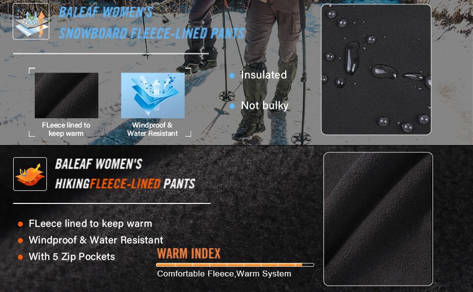 Waterproof warm pants