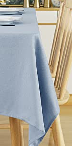 Deconovo Water Resistant Tablecloth Beige Table Covers Sprillproof Tablecloth for Kitchen Dining