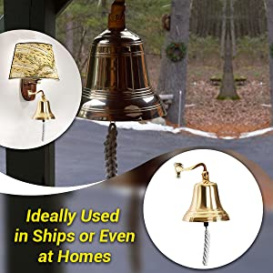 3 Lat/ón S/ólido for reception antique bell ARSUK nautical bell for dinner at school 7,5cm on boat solid brass for the navy home decoration for hanging on the wall