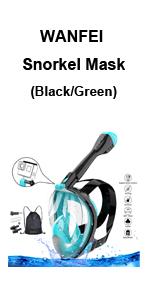 Snorkel Mask (Black/Green)