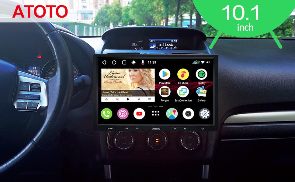 ATOTO S8 Premium S8G2103M,Navigation vid/éo int/égr/é au Tableau de Bord Android,Double BT avec aptX Lien dint/égration t/él/éphonique,Parking VSV,Soutenir SD 512Go, /Écran QLED 10 Pouces