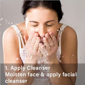 1.Apply Cleanser