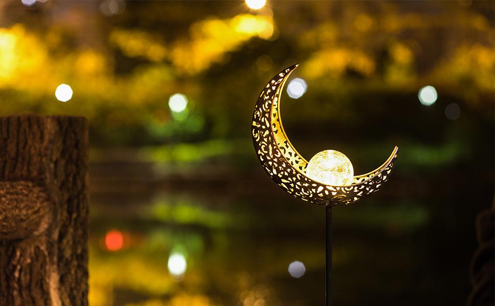 moon solar lights