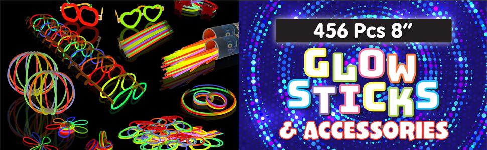 """Glow Sticks Bulk 200 8"""" Glowsticks"""