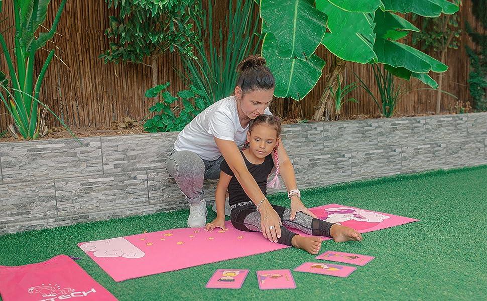 floor garden mother mom gift Christmas strap mats thick fitness matt Pilates non slip travel bag s
