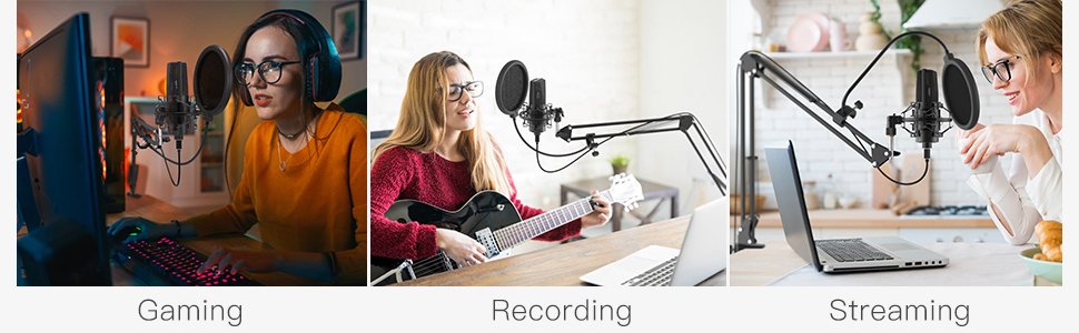 gaming usb microphone with arm
