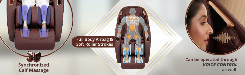 massage chair with foot calf and back massager