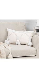 decorative couch white decor boho room bed outdoor case set sofa living lumbar farmhouse bedroom