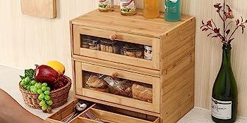 2 tier bread box container size