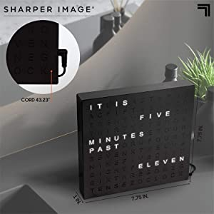 analog clock that plugs in