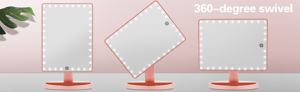 lighted LED Desk Magnifying Cosmetic Makeup Mirror