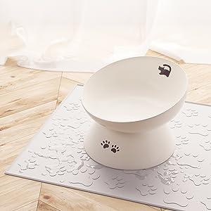 Ceramic Raised Cat Food Bowl