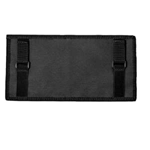 black visor panel cover organizer tactical molle compatible loop patch pockets tactical