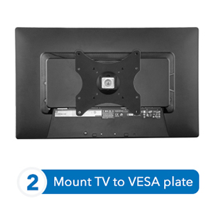 Mount TV to VESA plate