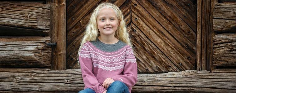 Marius Kids Girls Childrens Round Neck Woollen Sweater Jump Pullover Top
