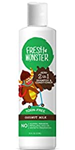 Coconut Shampoo and Conditioner Fresh Monster Kids