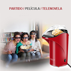 PREUP Máquina de Palomitas de Maíz, Palomitero Casero Portatil, 1.76 oz, 1000W, mini Máquina de Palomitas de Maíz, Cocinar Palomitas sin aceite, tapa ...