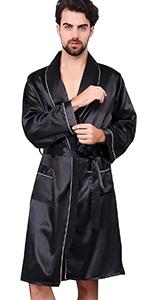 Satin Kimono Robe