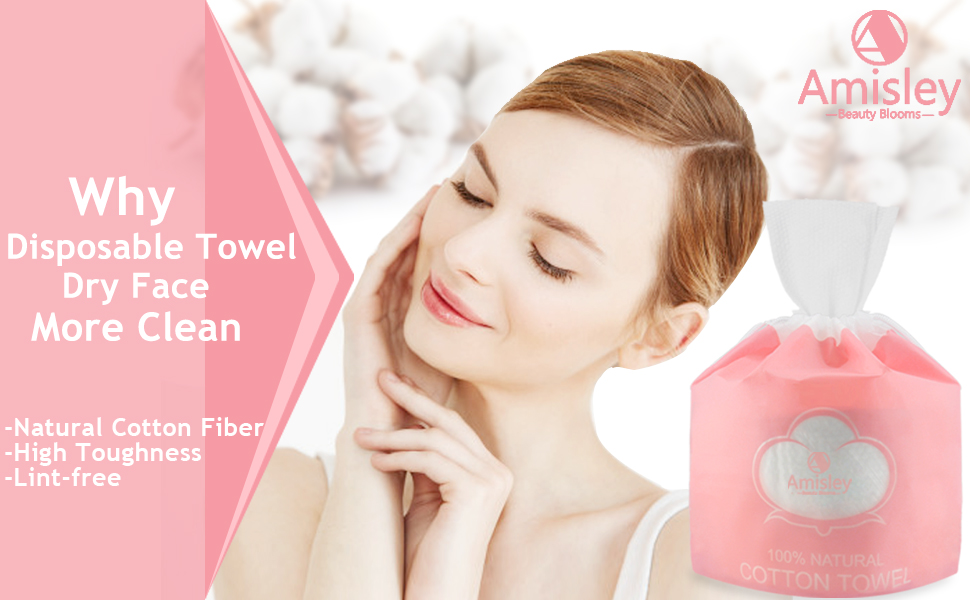 The disposable face towel is made of 100% cotton-natural plant fiber durable