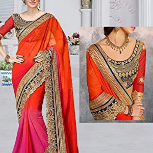 RK Fashion Women's Georgette Saree