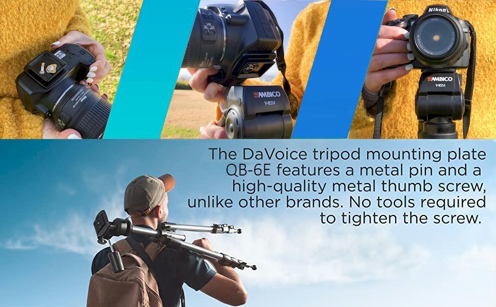 camera tripod mounting plate